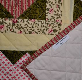 Hearts quilt detail