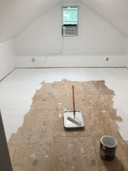 the new space - primer on the floor