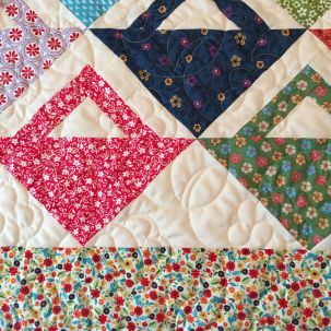 can you see the overall quilting design?