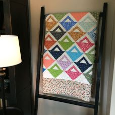 on display on my quilt ladder!