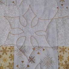 snowflake quilting detail