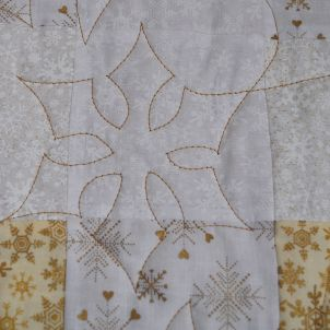 snowflake quilting detail