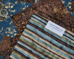the brown fabric is a batik