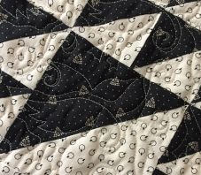 traditional quilt block with whimsical quilting!